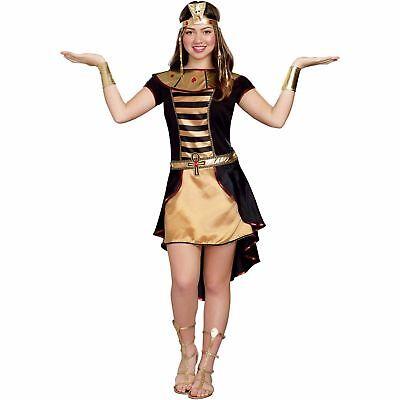 NEW Halloween Costume Cleo Cutie Cleopatra Egyptian Queen Juniors Size S 5/7](Cleo Halloween Costume)