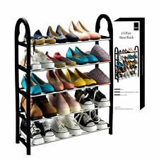 5 Tier Shelf Shoes Organizer Stand Adjustable Shoe Storage Rack Space Saving