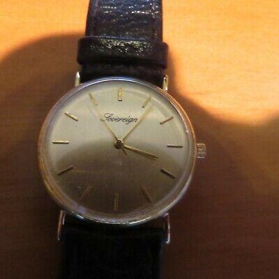 Gents Sovereign 9ct Gold Wrist Watch