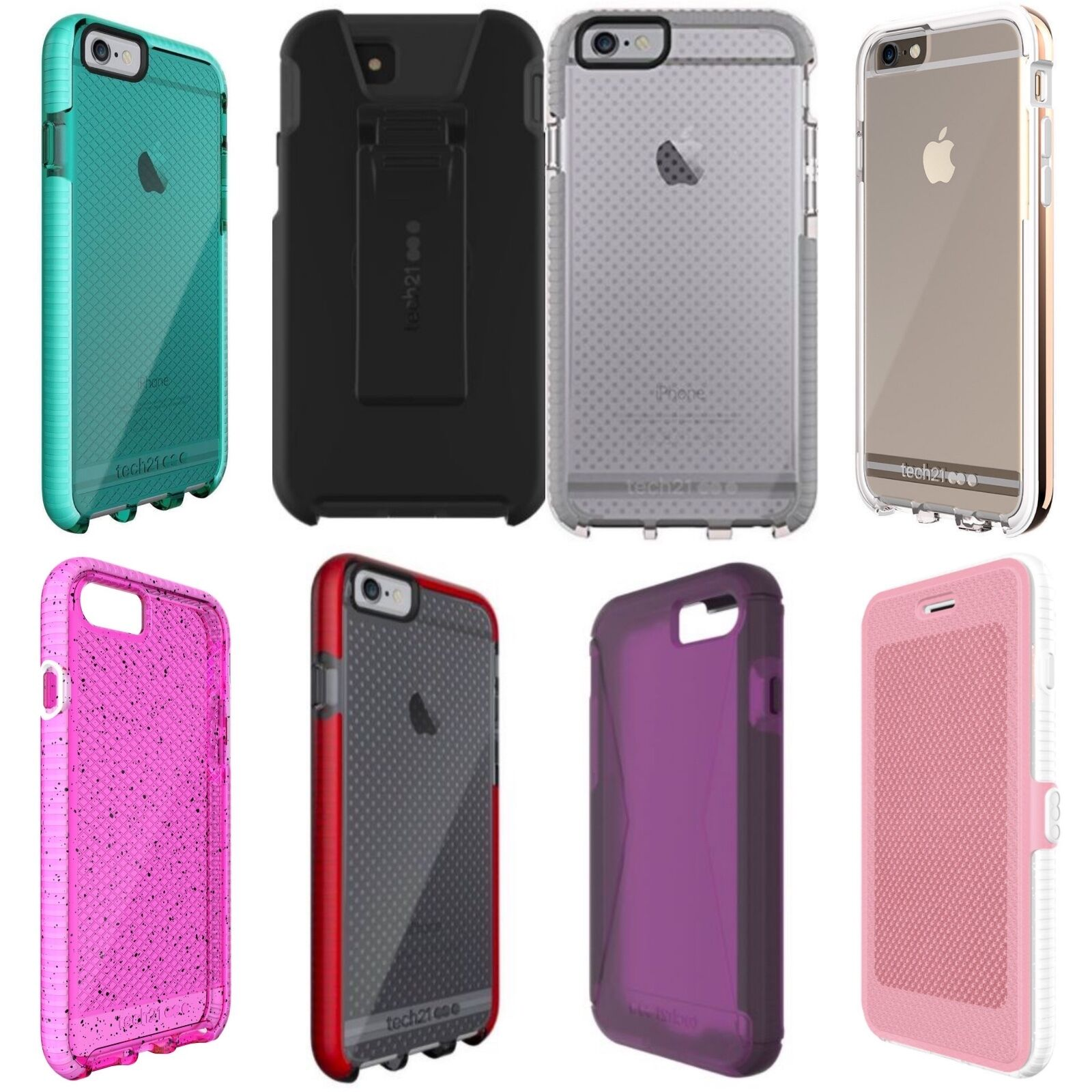 Tech21 Evo Elite Check Case iPhone 5/5s/SE/6s/6 Plus/6s Plus/7 Plus/8/8 Plus