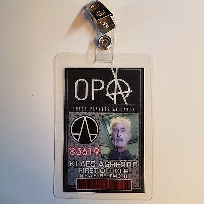 Die Expanse Id Badge-Opa Erste Offizier Ashford Cosplay Requisite - Erste Offizier Kostüm