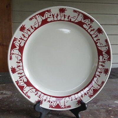 Oneida large chop plate hawaiin chop plate, tiki luau themed 12.75