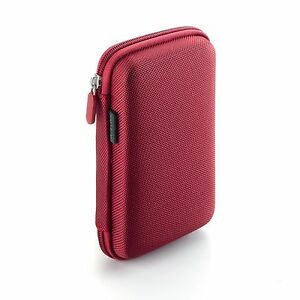 Drive-Logic-DL-64-Portable-EVA-Hard-Drive-Carrying-Case-Pouch-Red