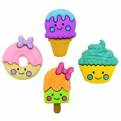 JESSE JAMES ~ DRESS IT UP BUTTONS ~ SO SWEET 9360 ~ Ice Cream Donuts Cupcakes James Ice Cream