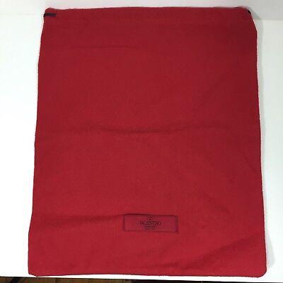 """VALENTINO Logo Drawstring Dust Bag 11.5"""" X 14"""""""