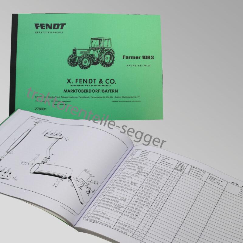 Fendt Ersatzteilliste für Farmer 108S Baureihe FW 278 Traktor Schlepper 278001 Foto 1