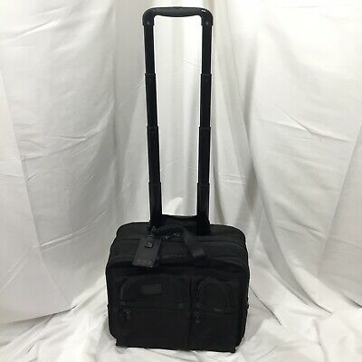 Tumi Alpha Wheeled Deluxe Expandable Briefcase With Computer Case MSRP $845 ()