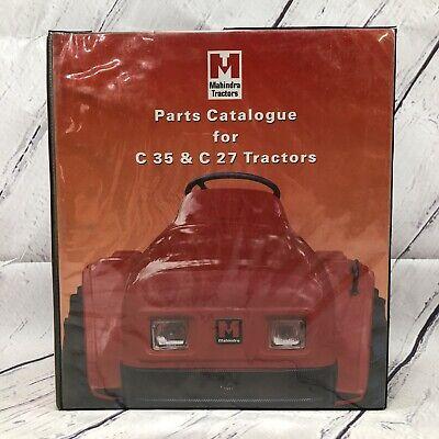 Mahindra Tractors Shop Parts Catalogue Models C35 C27 Tractors 2 Hard Binder
