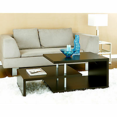 تربيزه جديد Furniture of America Modern Brown Multi Leveled Accent Cocktail Coffee Table