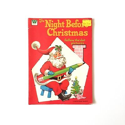 VINTAGE The Night Before Christmas Follow The Dots Connect (Whitman Books 1975) ()