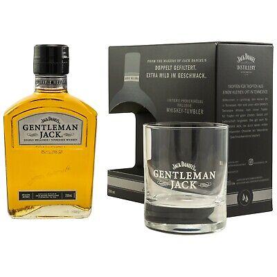 GENTLEMAN JACK Probierset Geschenkset mit Glas Tumbler Jack Daniels - 200ml