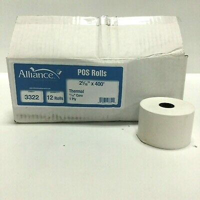 2 516 X 400 Thermal Gas Pump Receipt Pos Paper Rolls 1116 Core Case Of 12