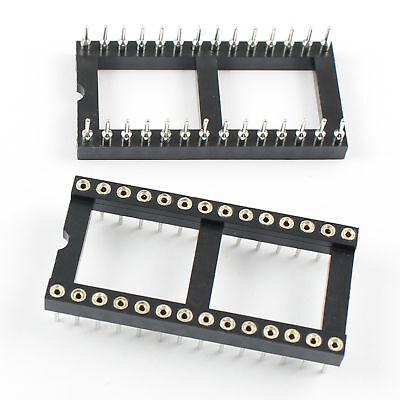 17pcs 28 Pin Round Dip Ic Sockets Adaptor Wide