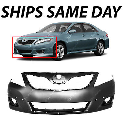 - NEW Primered - Front Bumper Cover Replacement for 2010 2011 Toyota Camry SE