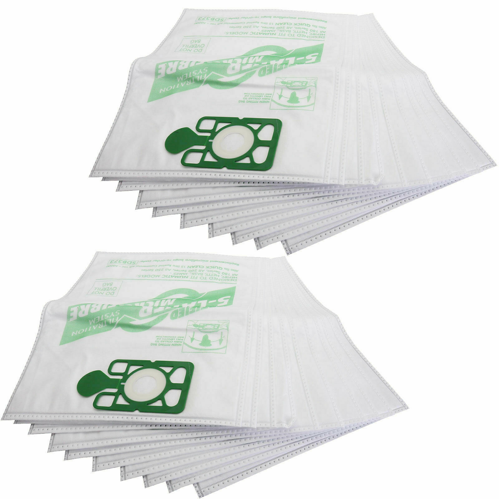 10 X HEPAFLO BAGS FOR NUMATIC HENRY /& HETTY VACUUMS /& AIR FRESHNERS