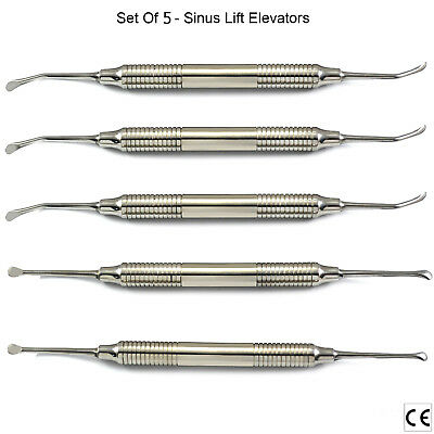 5pcs Sinus Lift Procedure Instruments Periosteal Sinus Elevators Implantology Ce