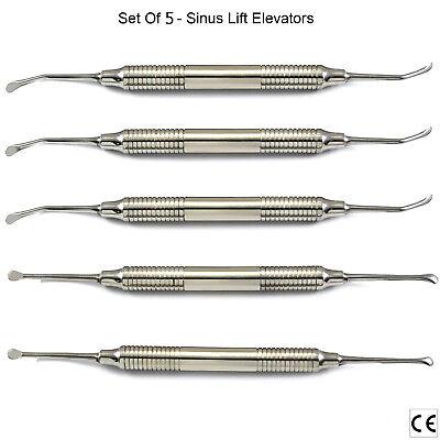 5pcs Sinus Lift Procedure Instruments Periosteal Sinus Elevators Implantology Ce