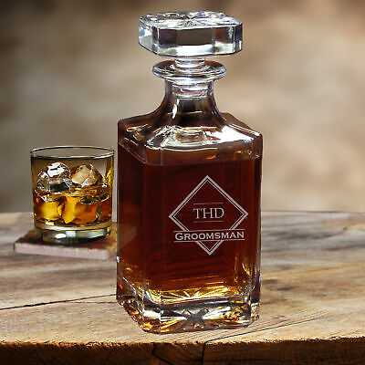 Personalized Groomsman Gift Whiskey Decanter Best Man Gifts Engraved