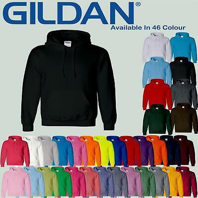 Gildan Heavy Blend Mens Plain Hoodie SweatShirt Hooded Unisex Hoody Top