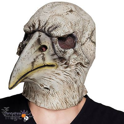 Scary Halloween Films (Halloween Skull Eagle Crow Bird Medieval Black Death TV Film Scary Latex)
