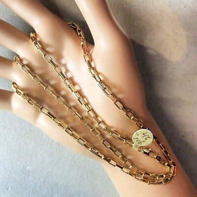 9 ct GOLD  second hand long paper chain