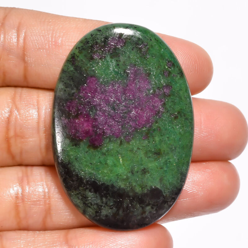 AAA+ Natural Ruby Zoisite Oval Cabochon Loose Gemstone 74 Ct. 43X30X6mm EE-20367