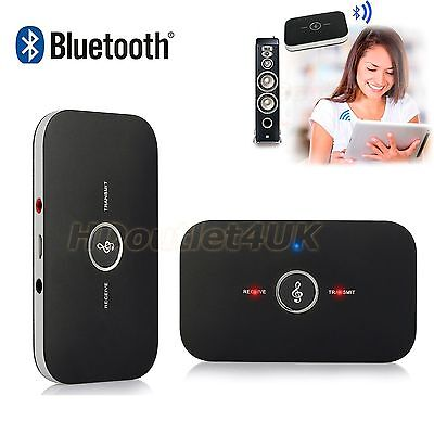 Wireless Bluetooth 2in1 Stereo Audio Music Transmitter and Receiver for PC/TV