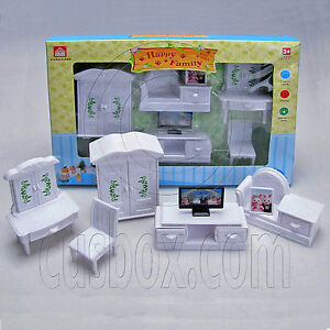 Living room tv full set for sylvanian families furryville for Complete living room sets with tv