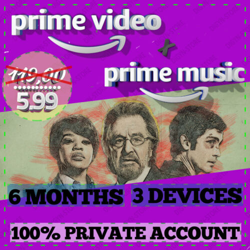 6 months Amazon Prime Video + Prime Music | FAST DELIVERY | WORLDWIDE |