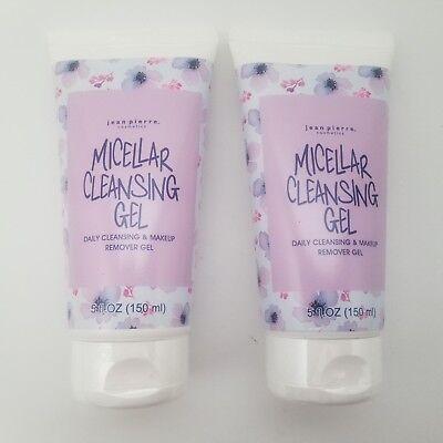 2-Pack Jean Pierre - Micellar Facial Cleansing & Makeup Remover Gel - 5 fl. oz. Cleansing Gel Makeup Remover