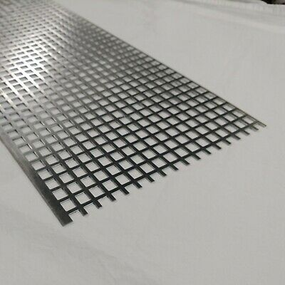 Perforated Metal Aluminum Sheet 116 Thick 12 X 24 X 12 Square Hole