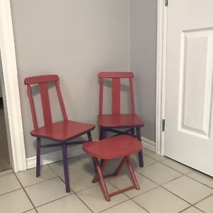Kids chairs and little table