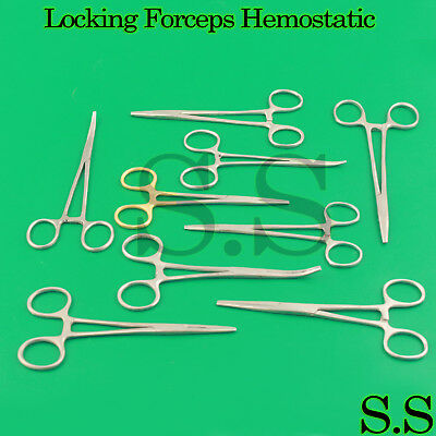 Locking Forceps Artery Hemostatic Clamp Kelly Mosquito Pean Mayo Hegar New