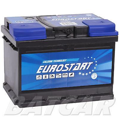 EUROSTART Starterbatterie 12V 55 Ah 540A ersetzt 52Ah 54Ah 58Ah 60Ah 62Ah 65Ah