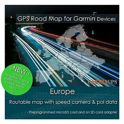 City Navigator Europe Sd Card (2019 Europe City Road Maps - microSD-SD Card for Garmin GPS)
