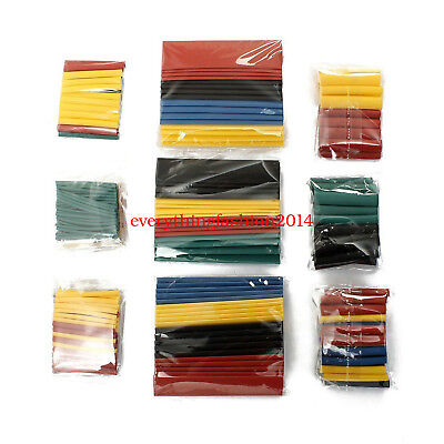 Test 328pc 21 Heat Shrink Tubing Tube Sleeve Wrap Wire Assortment 8 Size