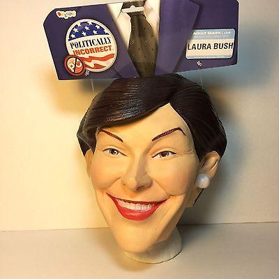 Laura Bush Halloween Full Mask First Lady Of Texas George Bush Wife New W Tags](Laura Bush Halloween)