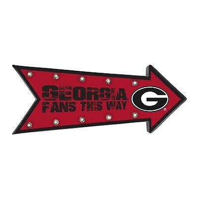 Georgia Bulldogs Arrow Marquee Sign - Light Up - Room Bar Decor NEW NCAA 18