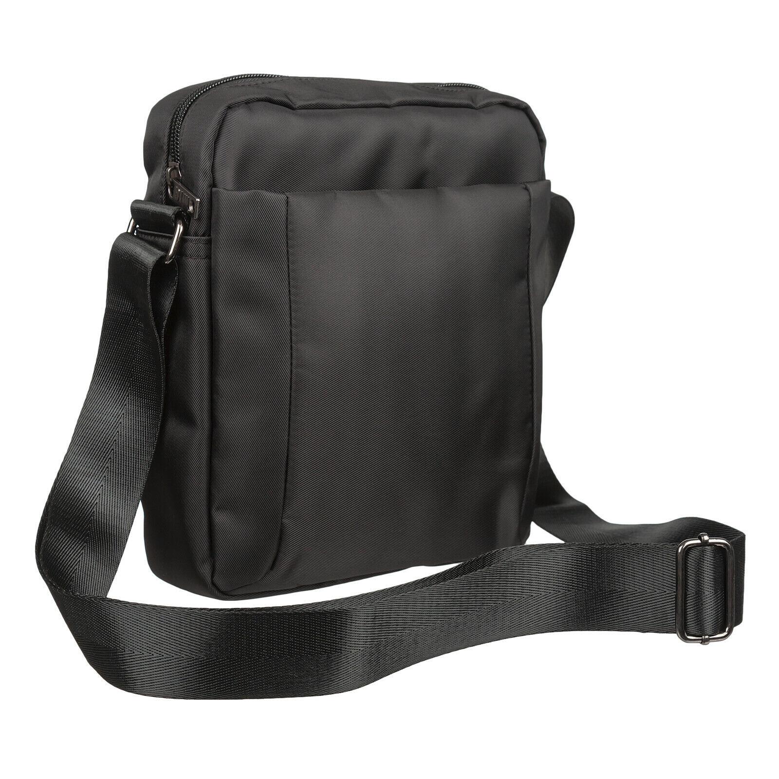 Mens Black Mini Organiser Shoulder Utility Bag for TRAVEL WO