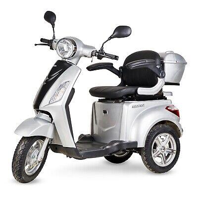 Silla de ruedas patinete electrico triciclo minusvalido scooter color gris plata