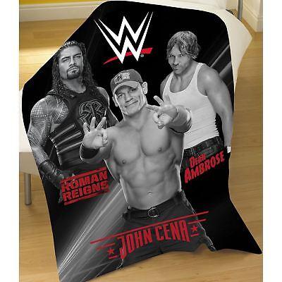 WWE ALL STARS WRESTLING  FLEECE THROW BLANKET SILVER BUFFALO 50 x 60