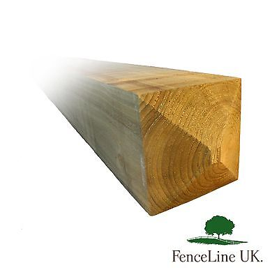 8ft 7 x 7  175mm x 175mm Pressure Treated Gate Post Weather Top Heavy Duty