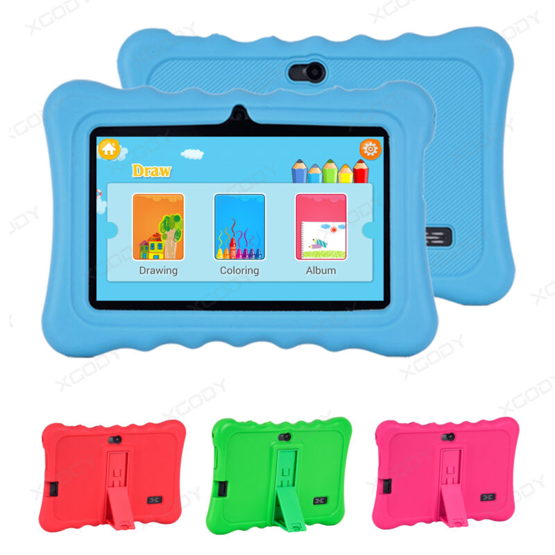 XGODY Android 8.1 7 INCH HD 8GB Kids Tablet PC Quad-core Dua