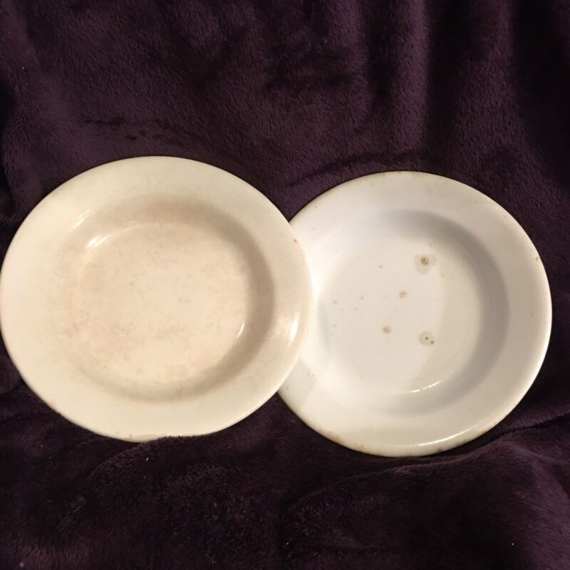 Antique Alfred Meakin England Royal Ironstone China Soup Bowls