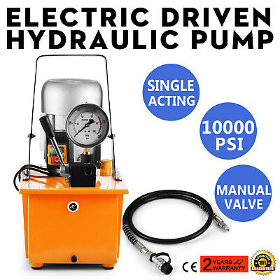 Electric Hydraulic Pump Manual Valve Single-circuit Acting 110v 10k Psi 8l 110v