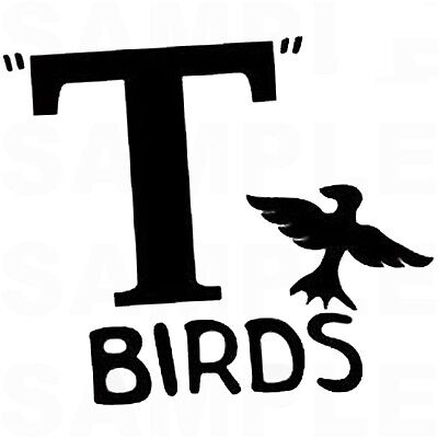 T Birds Grease (****GREASE T BIRDS ***FABRIC/T-SHIRT IRON ON)