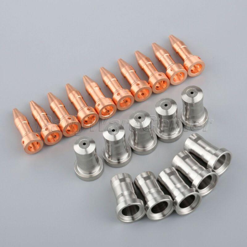 20×For PT-23 PT-27 Plasma Cutter Torch Kit Electrode 33366XL Nozzle 33418 80A HQ
