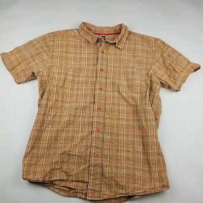 The North Face Short Sleeve Button Down Shirt Men's Size Large Plaid Checks