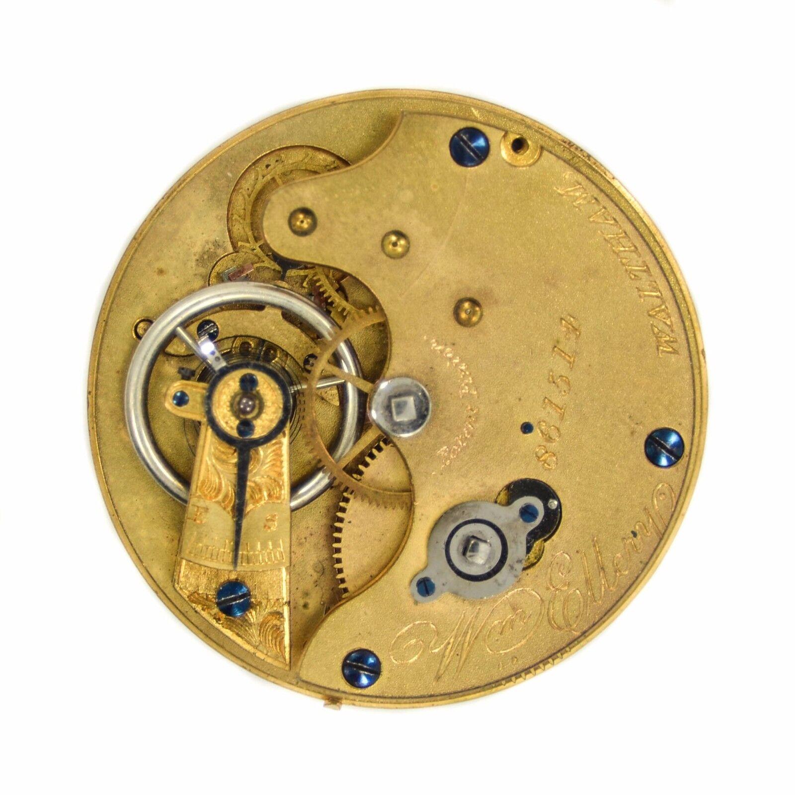 Vintage American Watch Co.Pocket Watch Patent Pinion Movement 861514 38mm