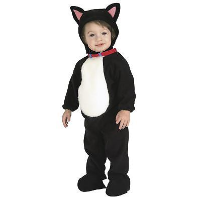 Unisex Baby Infant Newborn Black Kitty Cat Animal Costume Jumpsuit Romper 0-12 m - Baby Costume Cat